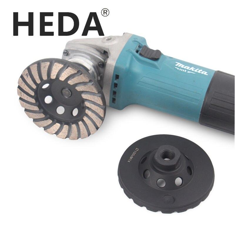 Free Shipp 4 inch 100mm M14 Thread Diamond Grinding Cup Wheel Turbo Abrasive Tools For Concrete Granite Floor Brick Coarse