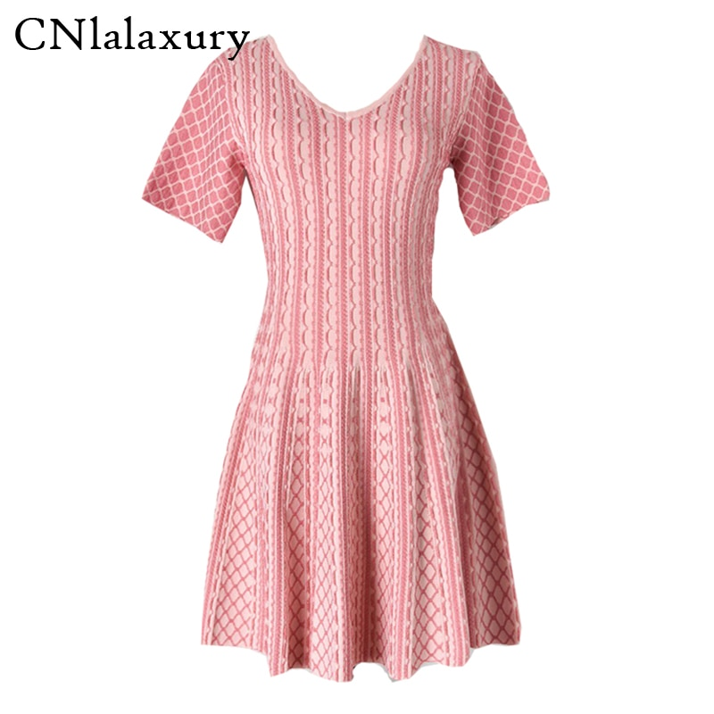 CNlalaxury party knitted dress 2020 Autumn new female Ladies office A-line sweater dress Mini dresses for women vestido de mujer