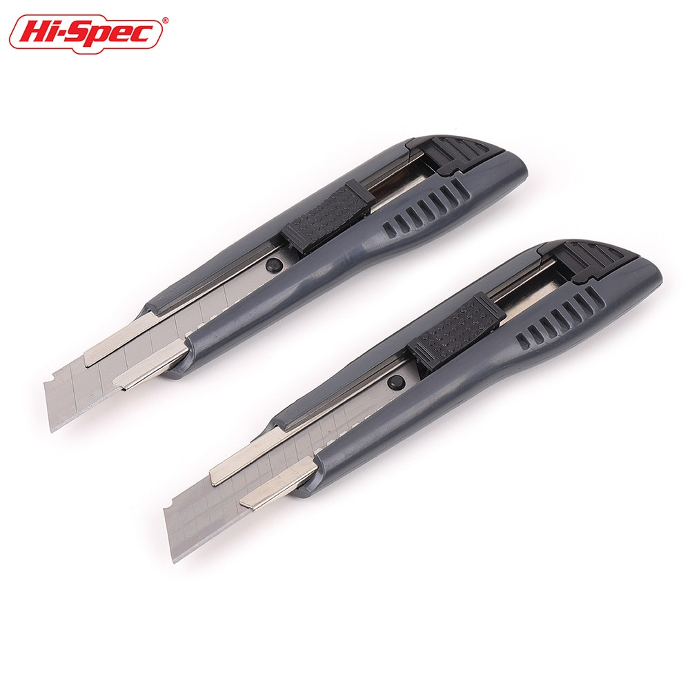 Cuchillos de acero al carbono de alta calidad, 1 Uds., cortador de utilidad, cuchillas de 18mm con función de rotura de hoja