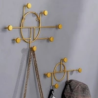 nordic creative metal decorative hook simple geometric wall decoration crafts home bedroom porch multifunctional door back hook