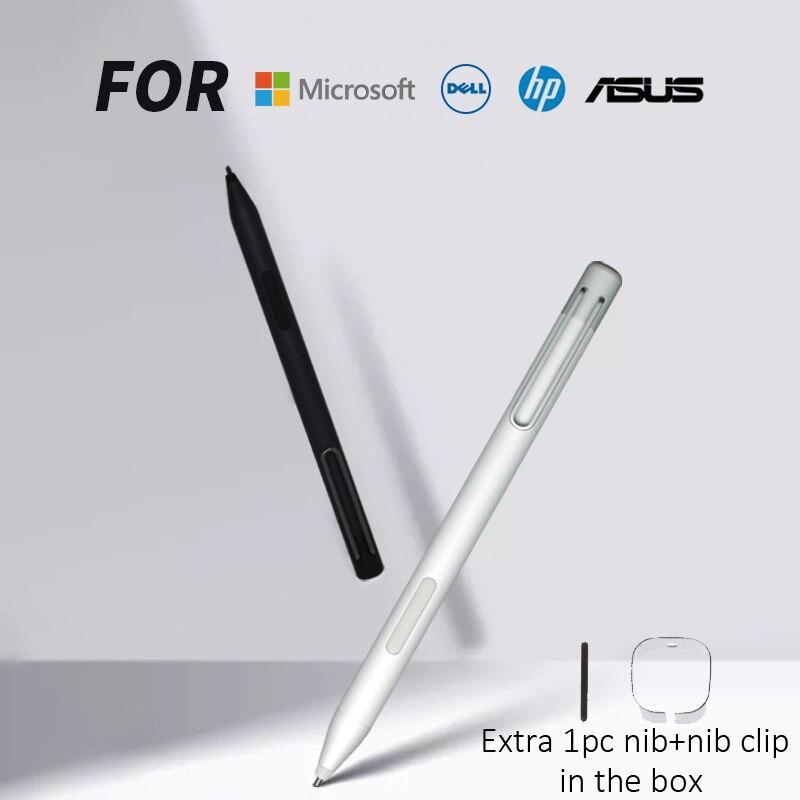 قلم ستايلس لمايكروسوفت السطح برو 3 4 5 6 7 قلم بالسعة مع رفض النخيل 4096 حساسة للضغط ل HP ASUS DELL