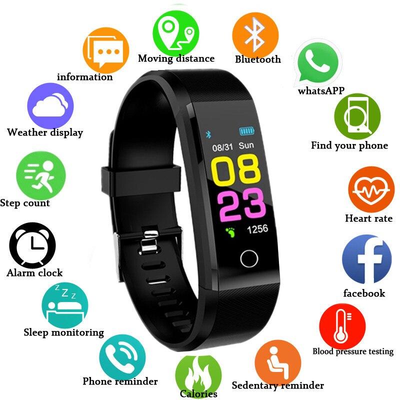Умные часы с будильником Inteligente, браслет с пульсометром, водонепроницаемые спортивные наручные часы, женские умные часы для мужчин, для Android ...