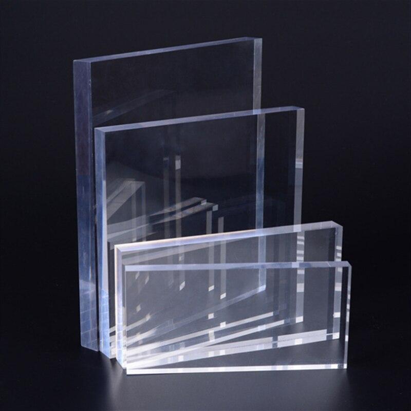 Transparent acrylic plexiglass board, cuttable plastic transparent board, durable, door decoration a