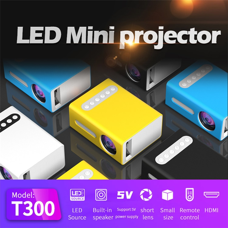ZK30 T300 MINI LED Projector Entertainment Portable cinema Support 1080P HDMI USB Audio Projector Home Media Video Player Gift