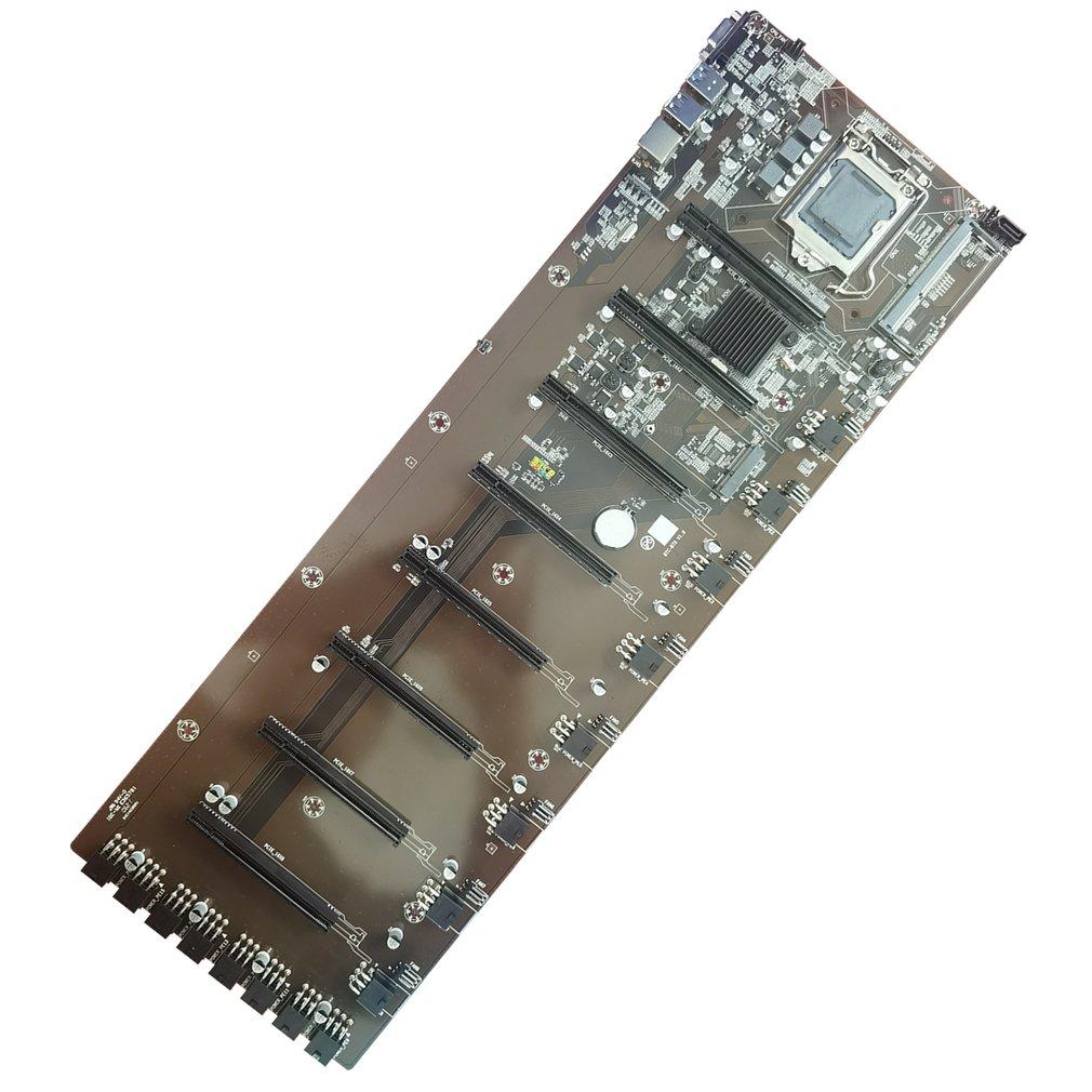 Mining BTC B75-BTC 8PCI-E Desktop Motherboard B75 BTC Mining Mainboard Support DDR3 8g SATA3.0 USB3.0 PCIE 16X VGA LGA-1155