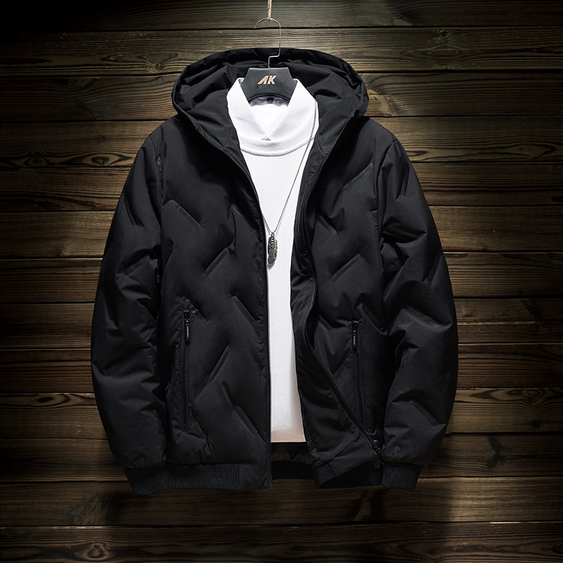 2021 autumn and winter fashion new men's casual hooded jacket down jacket thick warm winter down jacket plus size 5XL