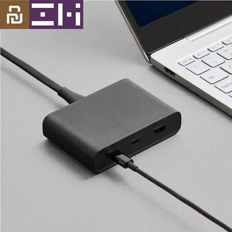 Youpin ZMI настольное зарядное устройство 65 Вт 3 порта PD3.0 USB 2C1A для Android iOS переключатель PD 3,0 QC умный Выход Max Solo c1-65w c2-1