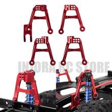 4 stücke CNC Aluminium Rot Vorne und Hinten 1/10 Stoßdämpfer Halterung für RC Crawler Auto AXIAL SCX10 II Upgrade teil