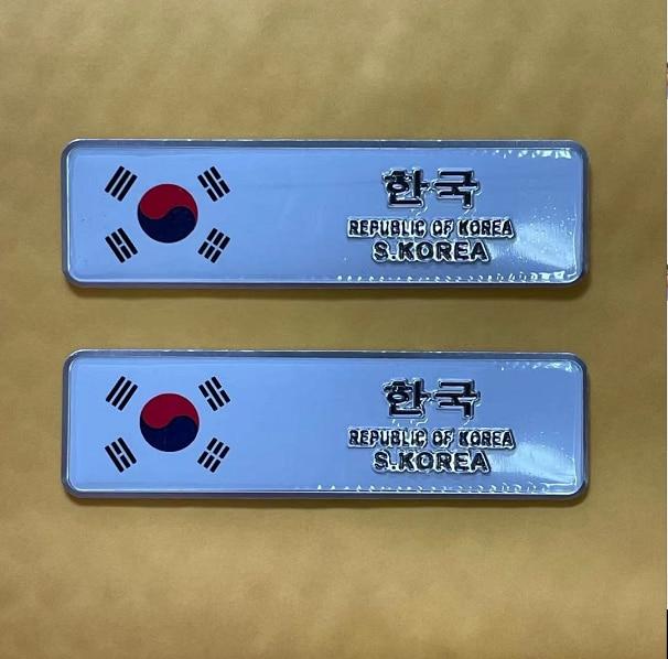 2x Флаг Южной Кореи, автомобильная эмблема, значок, наклейки для мотоцикла, наклейки, обтекатели, автомобильные аксессуары