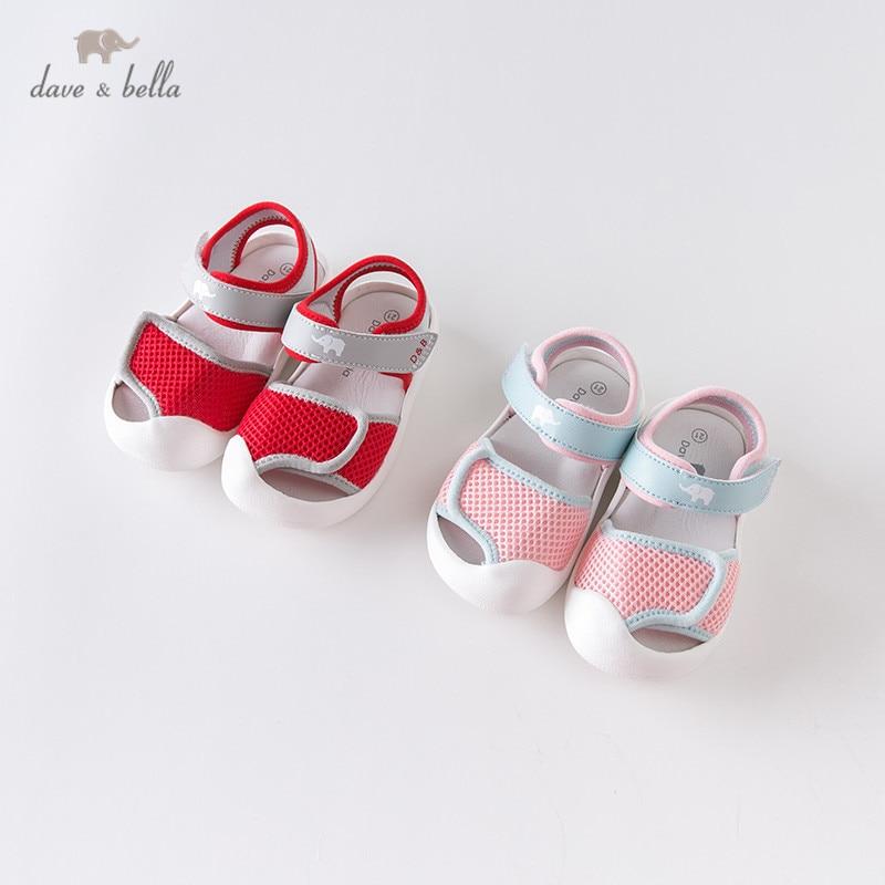 DBX13488 Dave Bella летние детские сандалии унисекс, обувь для новорожденных, сандалии, обувь с надписью