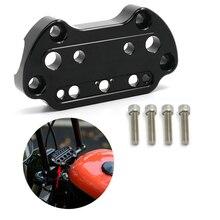 Luces indicadoras montaje de abrazadera superior del manillar para Harley Sportster 95-up Dyna 2006-2017 XL883 XL1200 Fat Street bob Low Rider