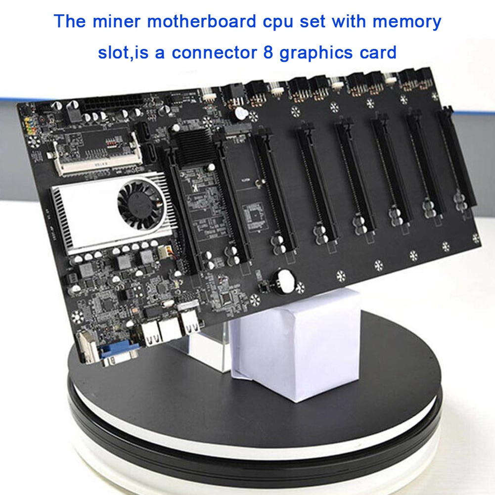 Miner Motherboard BTC-T37 Mining Machine CPU Group 8 Video Card Slots Memory VGA Interface With LowPower Consume For Windows7/10 enlarge