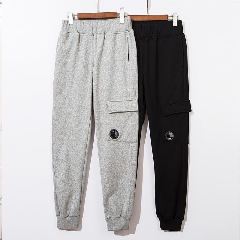 2021 cp جيب سستة عدسة الزخرفية تيري النسيج Sweatpants غير رسمية الرجال 1:1 نسخة عالية