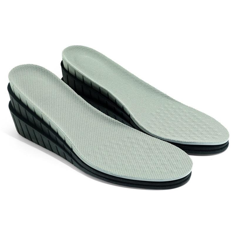 Palmilhas de Reforço do Plutônio para Mulheres dos Homens Respirável Aumento Sapatos Almofada Elevador Esportivos Palmilhas Casuais