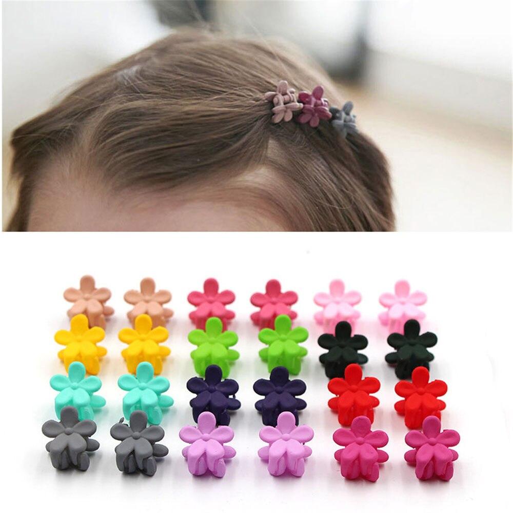 10 Pcs Mini Grampos de Cabelo Novo Crianças dos miúdos Acessórios Tecido Flor Bonito Headwear Grampos de Cabelo Grampos de cabelo Do Bebê Cocar Menina