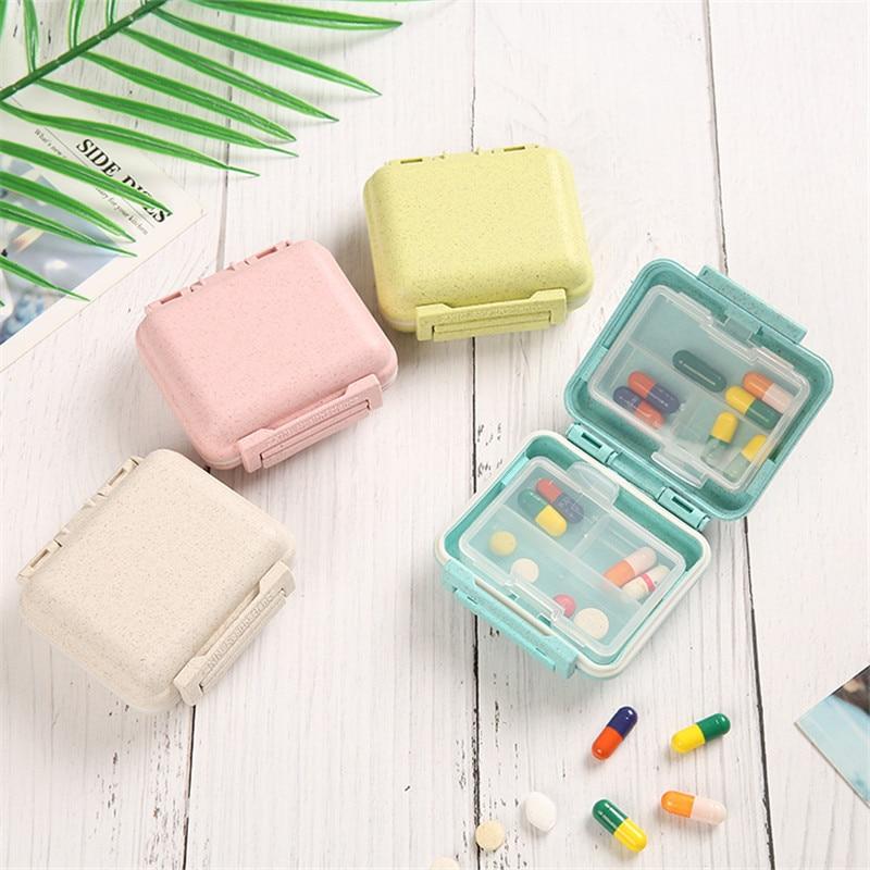 Mini Pill Box 7 Grids Medicine Tablet Week Pill Case Container Organizer Health Care Drug Travel Div