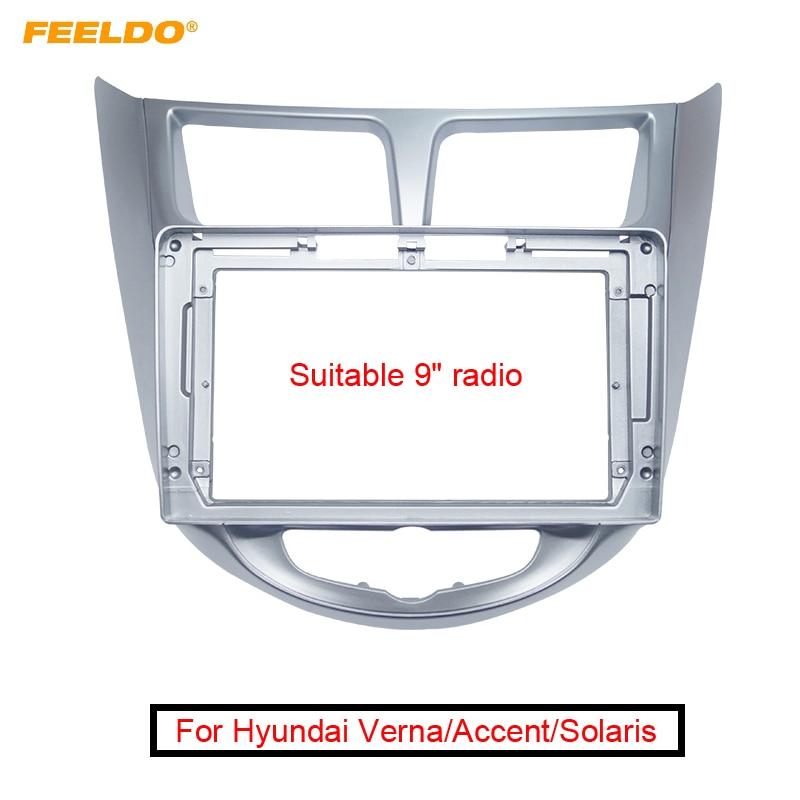 "Car Stereo 2Din Fascia Frame for Hyundai Verna/Accent/Solaris/i-25/DODGE Attitude 9"" Big Screen CD/DVD Dash Mount Trim Kit"