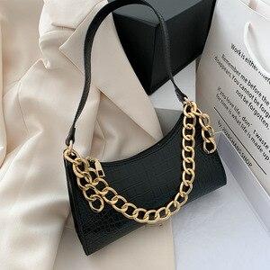 Bag women's 2020 spring and summer new trendy fashion all-match crocodile pattern underarm bag French niche shoulder bag diagona