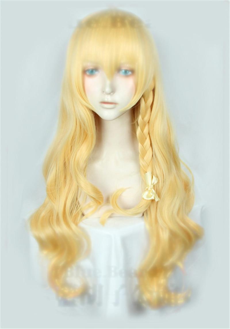 Парик длинный для косплея Kirisame Marisa из Аниме TouHou Project термостойкий костюм
