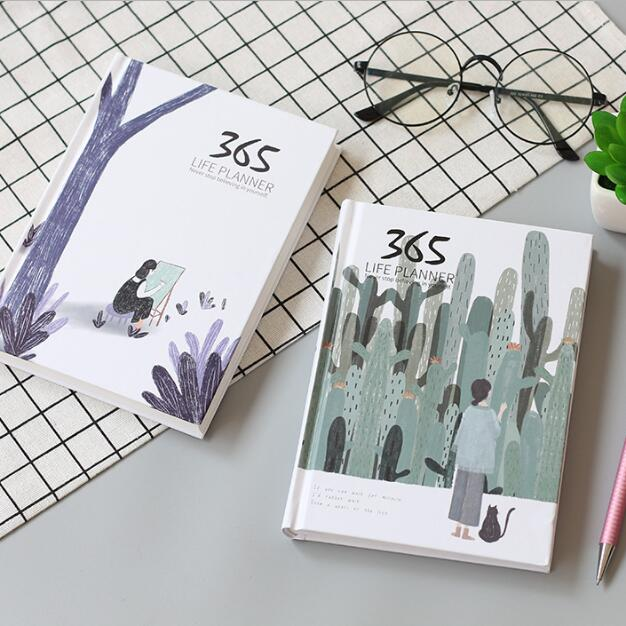 365 Days Colored Pages Diary Weekly Journal Notebook Planner Year Schedule Note Book Stationery Agenda 2021 Planner Organizer