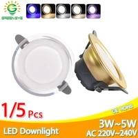 15pcs led downlight 3w 5w 3000k 4000k 6500k downlight ac220v 240v led ceiling downlight kitchen living room indoor round light