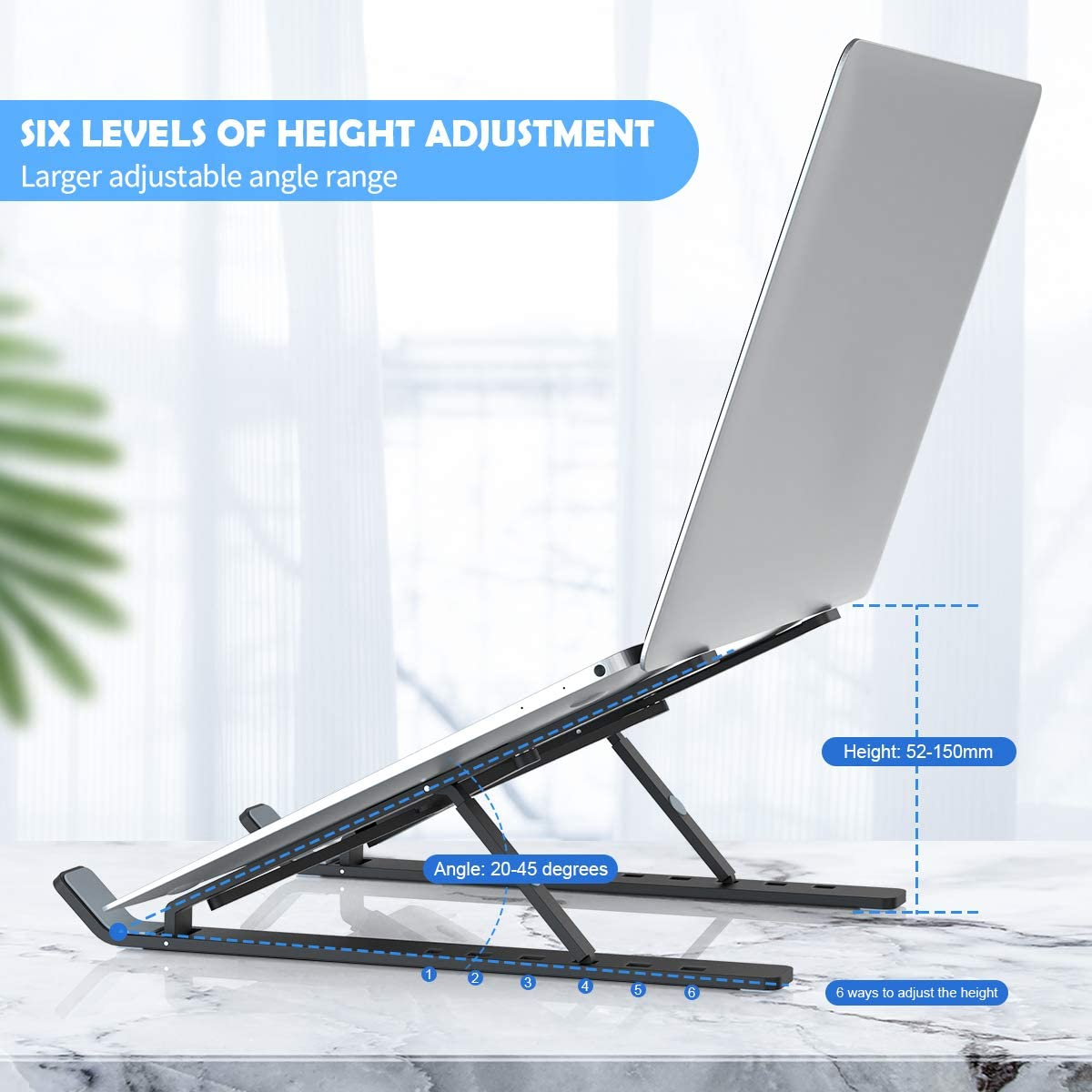 "Adjustable Aluminum Foldable Laptop Tablet Stand Universal Lightweight Laptop Computer Stand Support For ALL 10""-15.6"" Devices"