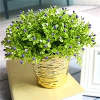 1pc 24cm milan artificial flowers for party wedding fake flowers christmas home flowers in pots decor artificial plants