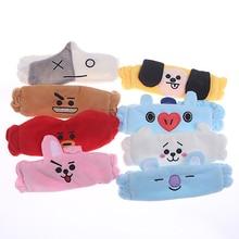 New Kpop Plush Hairband Animal Cartoon Headband Bangtan Boy Groups Plush Headband For Girls Face Washing Clean Makeup Tool