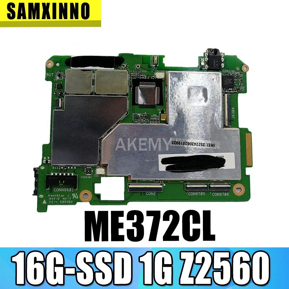 جديد! الأصلي ل لوح ذاكرة آسوس ME372CL ME372C أقراص اللوحة الرئيسية mianboard المنطق مجلس ث 16 جرام SSD 1 جرام RMA Z2560 CPU