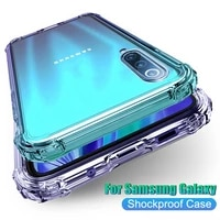 transparent phone case for samsung galaxy a10 a01 m01 core a10e a30 a20 a10s a20e a20s a40 a30s a50s a50 a60 rugged airbag cover