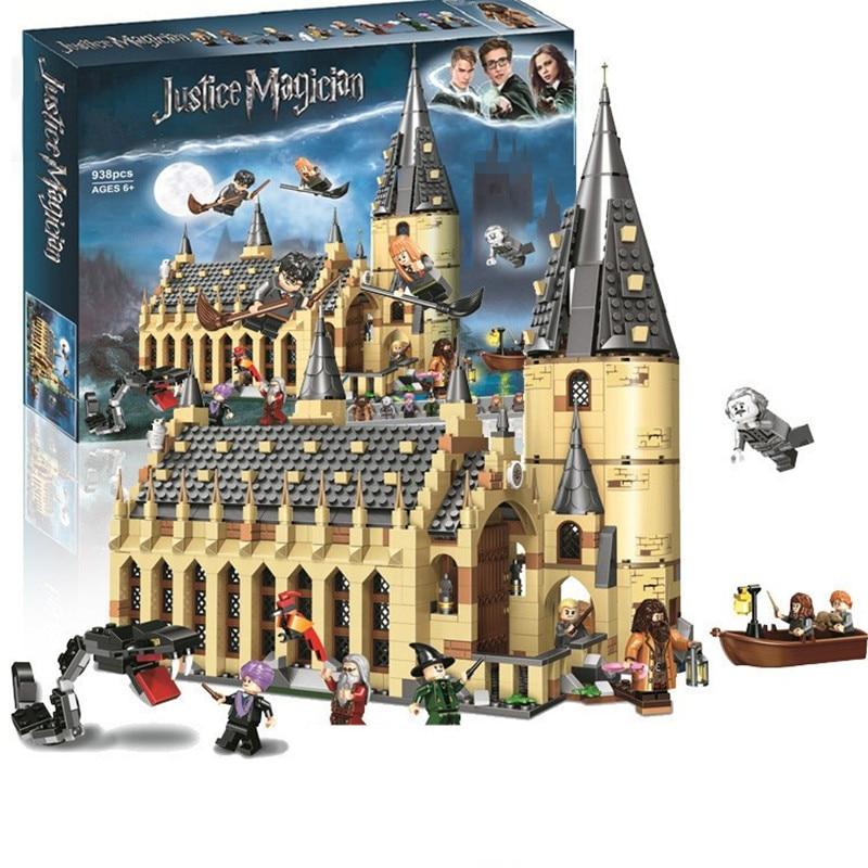 In Stock Movie Harri Magic Hogwarte Castle Figures Building Blocks Toys 75945 75946 75957 75958 75965 Gifts