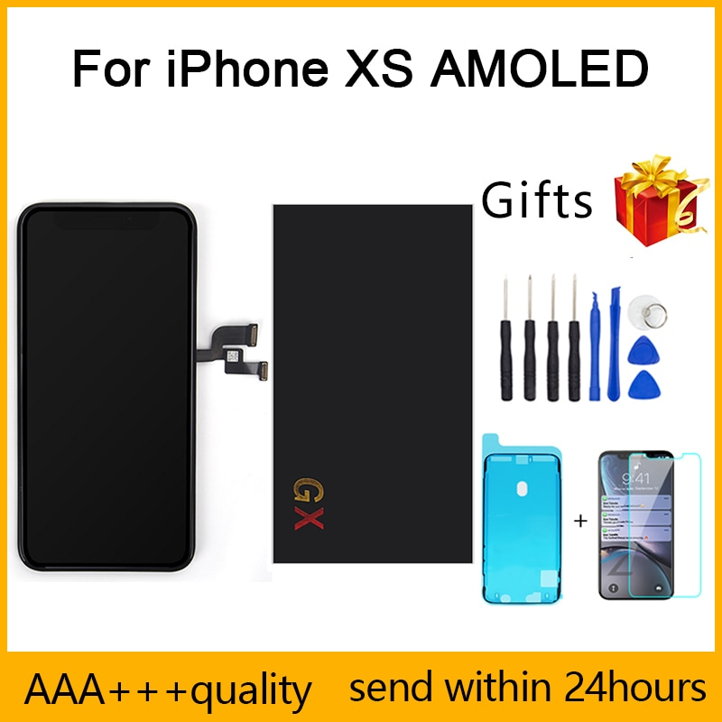 Perfect Repair Quality AAA GXS AMOLED For iPhone XS LCD Display No Dead Pixel Pantalla 3D Touch Replacement Screen Assembly LCD