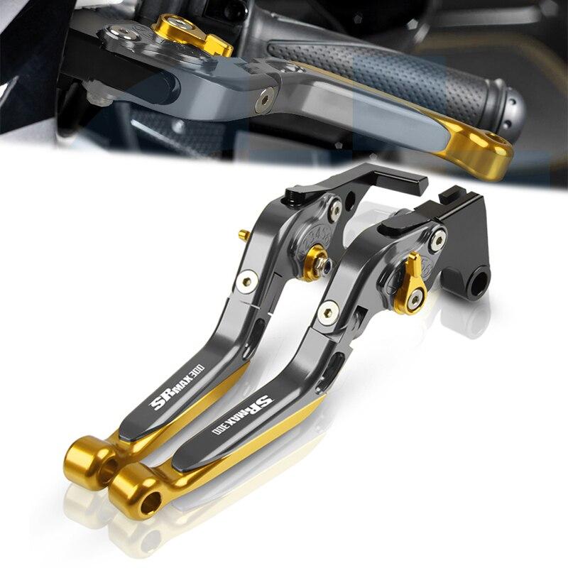 Accesorios de palanca de embrague de motocicleta, palancas plegables ajustables extensibles para APRILIA SR MAX 300 2011-2016 2015 2014 2013