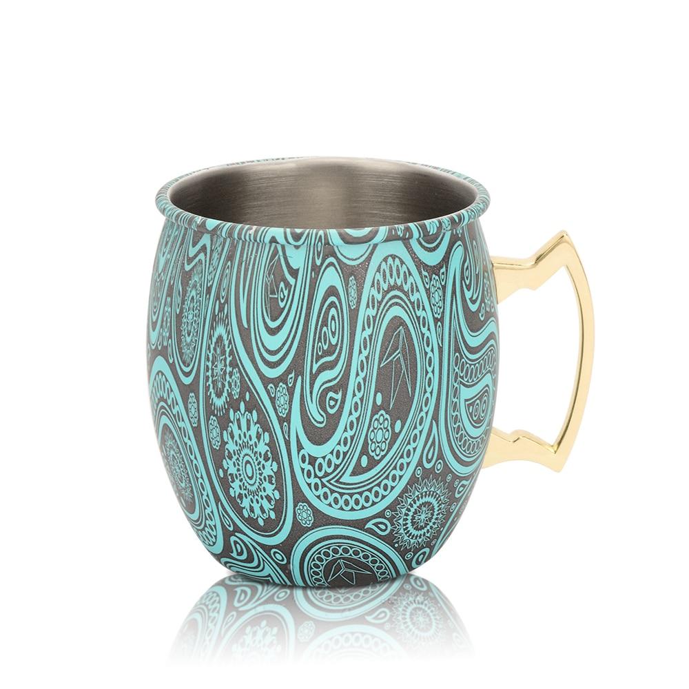 Tazas de mula de Moscú Mini Caneca Moscú taza Mule PureCobre Espresso taza de acero inoxidable