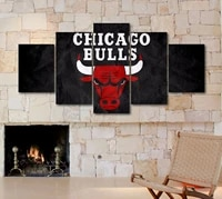 basketball club logo 5 panel canvas picture print wall art canvas painting wall decor for living room poster no framed