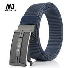 MEDYLA ceinture en nylon avec boucle simple   Ceinture en toile de haute qualité pour sports de plein air pour jeunes hommes et étudiants, livraison directe