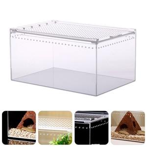 Acrylic Reptile Box Climbing Pet Feeding Container Transparent Breeding Box