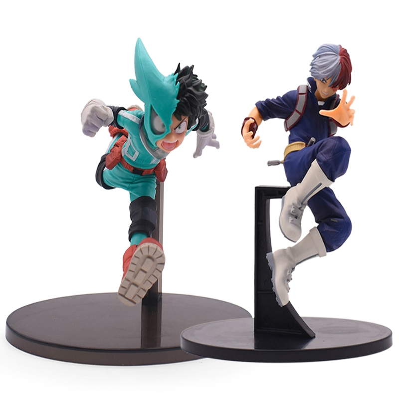 15-19cm anime desenhos animados meu herói academia figura olho fábrica izuku midoriya shouto todorok pvc ação modelo incrível herói brinquedos presente