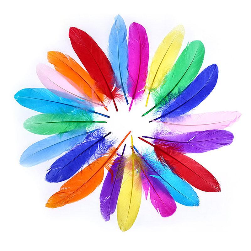 20pcs Acessórios de Penas DIY para a Jóia das crianças roupas crianças DIY arte criativa materiais curriculares educação brinquedos