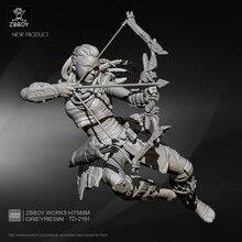 75mm résine figurine Kits futur tireur femelle résine soldat auto-assemblé TD-2191