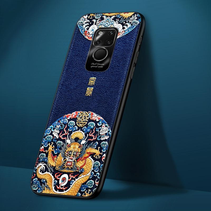 Funda de cuero suave lujoso para Huawei mate20 mate20pro mate20x p20 lite p20pro p30 lite p30pro funda protectora de estilo empresarial