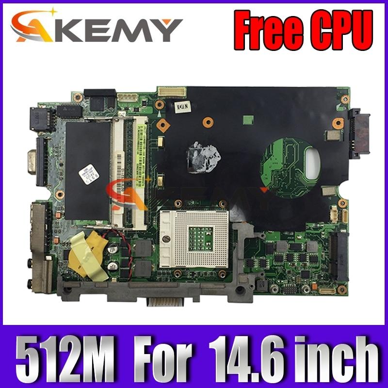Free CPU!!! laptop motherboard W/ 512M For Asus K50AB K50AF K50AD X5DAf X5DAD laptop 14.6 inch