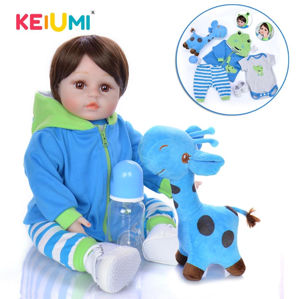 KEIUMI Silicone Reborn Baby Dolls Boy 48 CM Realisting Reborn Boneca 18 Inch Kids Playmate Toddler Surprise