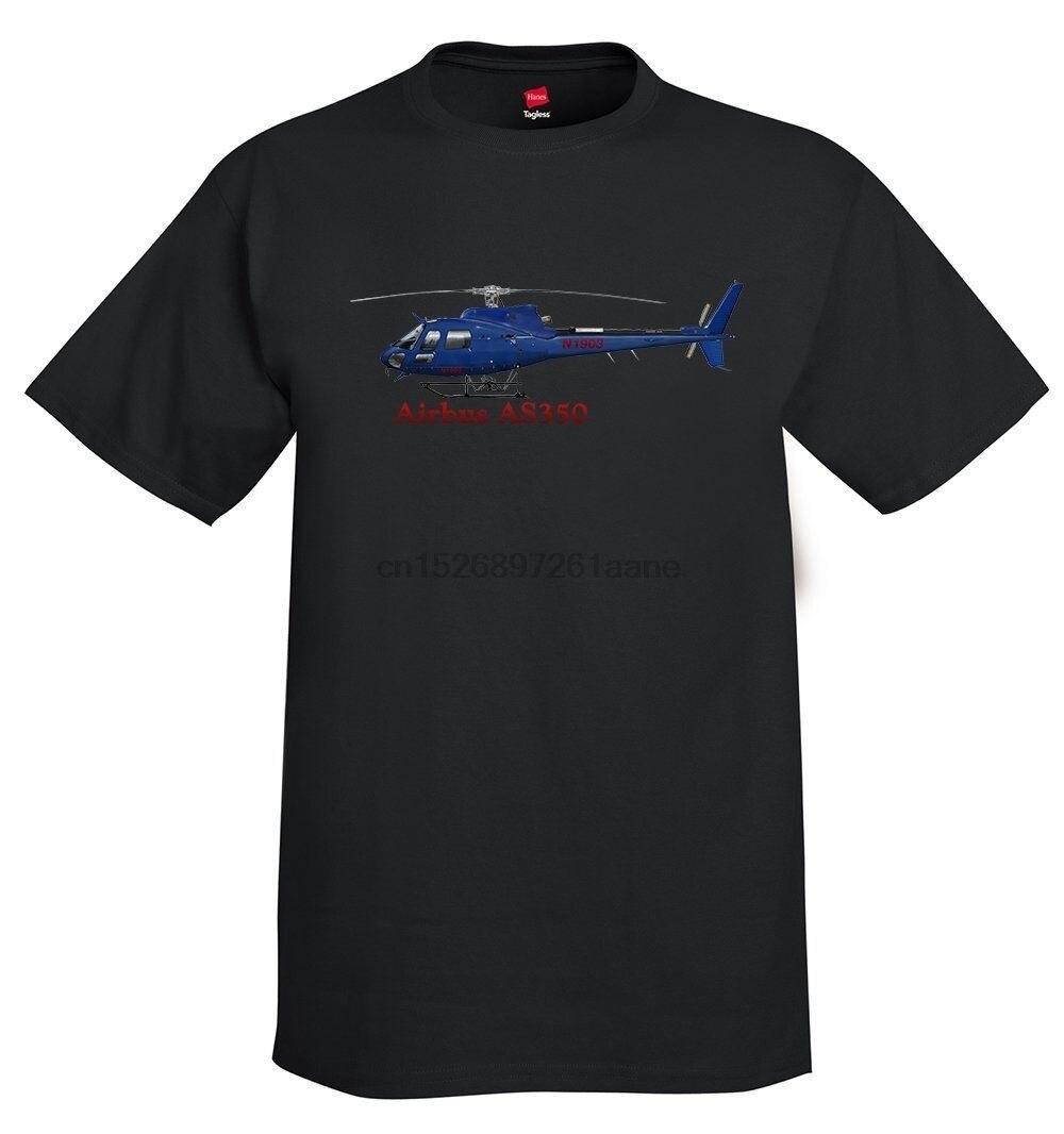 2020 nuevo verano hombres gran oferta moda Airbus AS350 helicóptero camiseta-personalizado con su N # camiseta