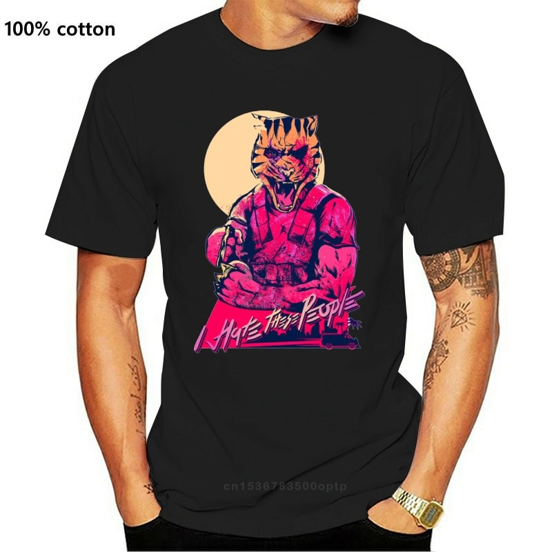 New Geek Hotline Miami Tony The Tiger Censored Version Homme Tee Shirt For Men Natural Cotton Fashion Crewneck Short Sleeve