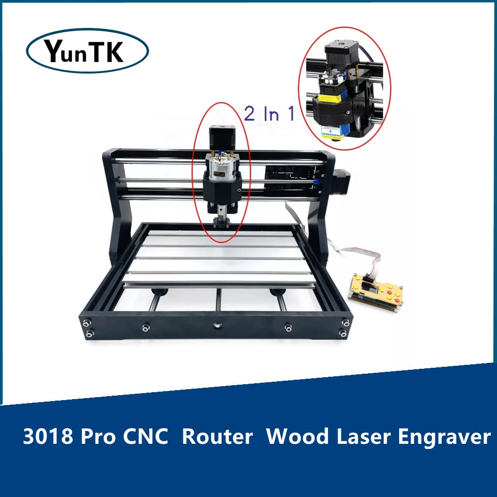 3018 Pro CNC  Router  Wood Laser Engraver DIY GRBL Controller 3 Axis With Offline Pcb Milling Machine Metal Engraving grbl cnc offline 3 axis controller board for 3018 pro 1610 2418 3018 engraving 28tc