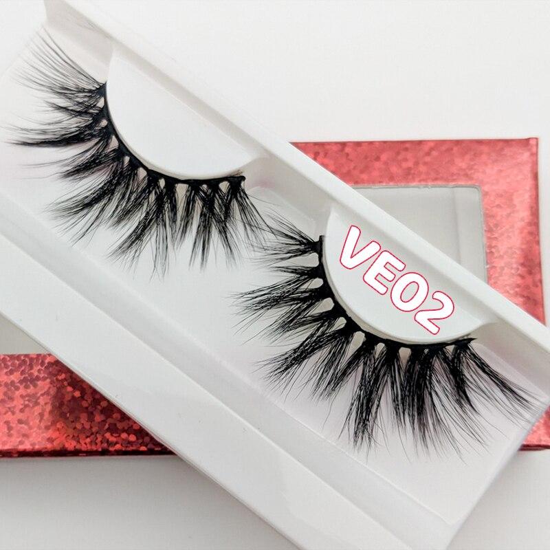 Ресницы для макияжа Rainsin, 3D норковые ресницы, пушистые мягкие объемные натуральные длинные перекрестные накладные ресницы, ресницы многора...