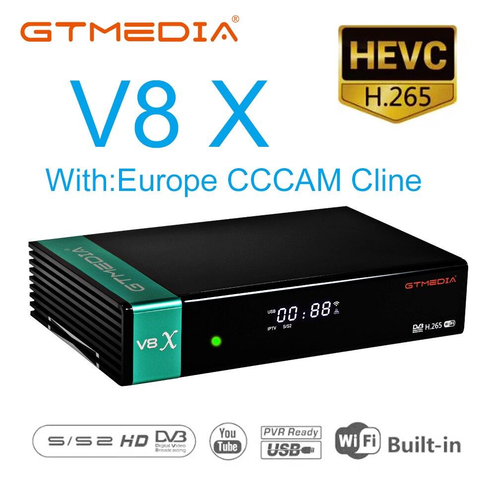Receptor de tv por satélite WIFI FULL HD DVB-S2 soporte Europa Cccam Cline