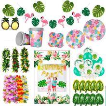 Hawaii Party Aloha Luau Flamingo Dekor Palm Blatt Ananas Sommer Tropical Party Liefert Geburtstag Hawaiian Party Decor Hochzeit