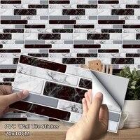 Autocollant mural moderne Imitation marbre PVC  27 pieces  carreaux auto-adhesifs pour cuisine salle de bains decoration de salon